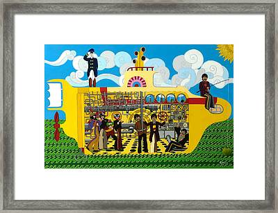 Yellow Submarine Framed Print by Rosie Harper