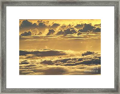 Yellow Sunset Framed Print by Carl Shaneff - Printscapes