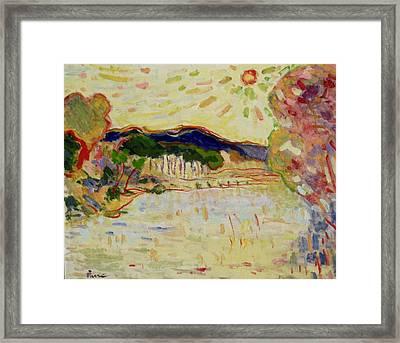 Beynac Et Cazenac , Dordogne , Yellow Sunshine  Framed Print
