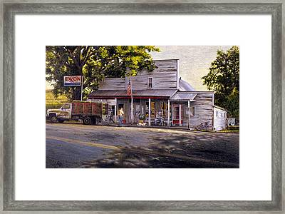 Yellow Sweater Freeman Store Framed Print