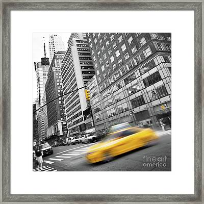 Yellow Taxi Nyc Framed Print