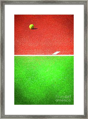 Yellow Tennis Ball Framed Print by Silvia Ganora
