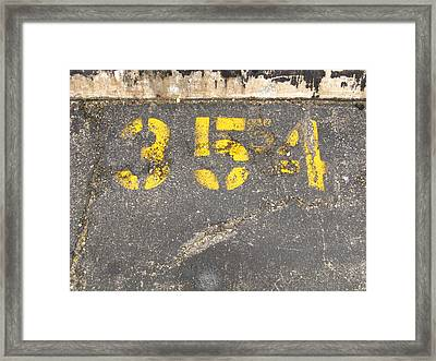 Yellow Three Five Five Four Framed Print
