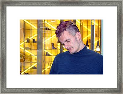 Yellow Thugulike Framed Print by Jez C Self