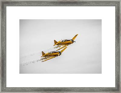 Yellow Thunder Harvard Team Framed Print by Bill Cubitt