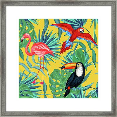 Yellow Tropic  Framed Print