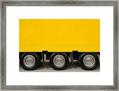 Yellow Truck Framed Print by Carlos Caetano