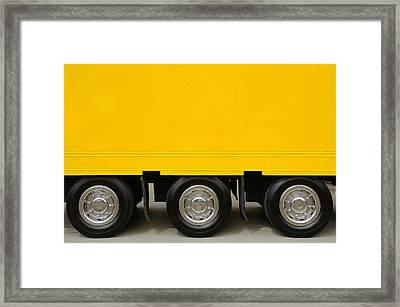 Yellow Truck Framed Print by Carlos Caetano