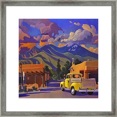 Yellow Truck Square Framed Print