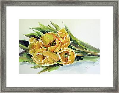 Yellow Tulips Framed Print by Kovacs Anna Brigitta