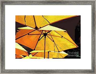 Yellow Umbrellas Framed Print