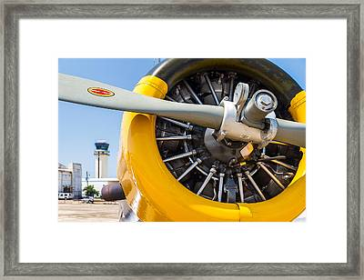 Yellow Valiant Cowling Framed Print