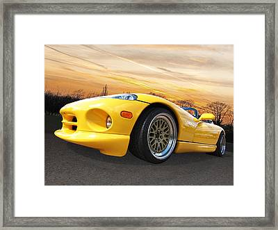 Yellow Viper Rt10 Framed Print by Gill Billington
