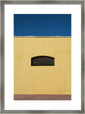 Yellow Wall In Trinidad Framed Print by Sami Sarkis