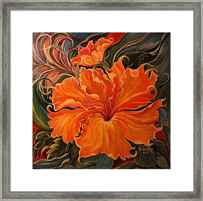 Yellow Wild Hibiscus Framed Print