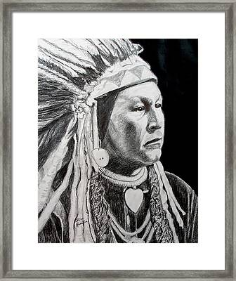 Yellow Wolf Framed Print by Stan Hamilton