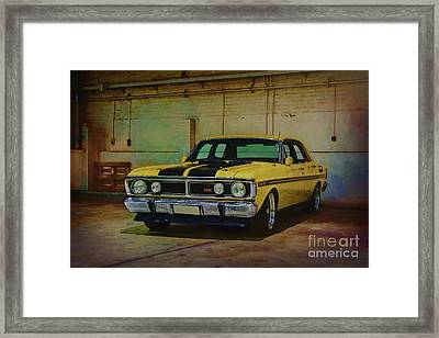 Yellow Xy Falcon Gt Framed Print by Stuart Row