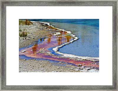 Yellowstone Abstract I Framed Print by Teresa Zieba