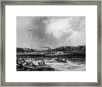 Yellowstone Aground 1833 Framed Print by Douglas Barnett