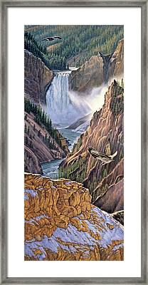 Yellowstone Canyon-osprey Framed Print