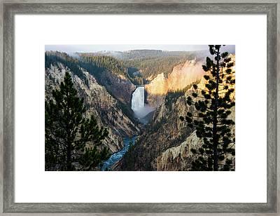 Yellowstone Falls Framed Print