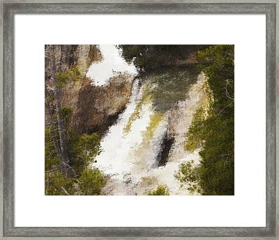 Yellowstone Falls Framed Print by Jo-Anne Gazo-McKim