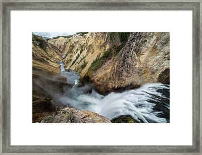 Yellowstone Falls Framed Print