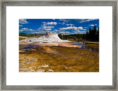 Yellowstone Geyser Framed Print by Patrick  Flynn