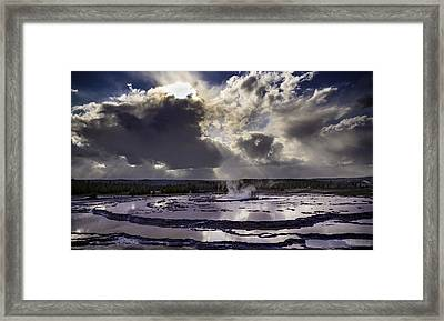 Yellowstone Geysers And Hot Springs Framed Print