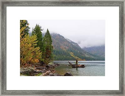 Yellowstone Lake Fall Framed Print