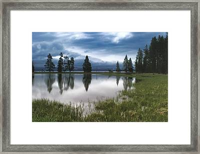 Yellowstone Lake Reflection Framed Print