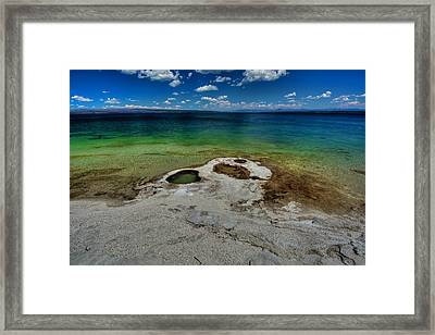 Yellowstone Lake Framed Print