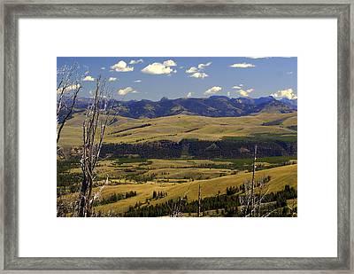 Yellowstone Landscape 2 Framed Print by Marty Koch