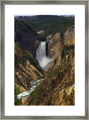 Yellowstone Lower Falls Framed Print by Patrick  Flynn