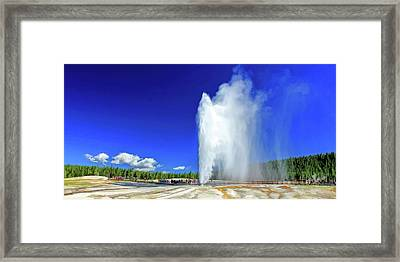 Yellowstone National Park Beehive Geyser Framed Print