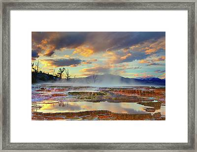 Yellowstone National Park-mammoth Hot Springs Framed Print
