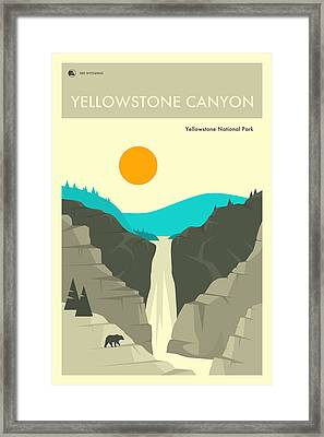 Yellowstone National Park Poster 2 Framed Print