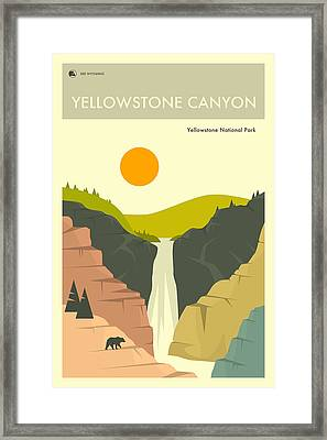 Yellowstone National Park Poster Framed Print