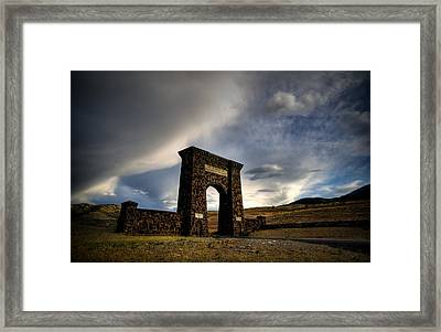 Yellowstone North Gate Framed Print by Patrick  Flynn