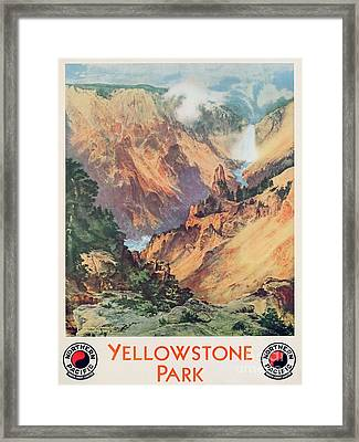 Yellowstone Park Framed Print by Thomas Moran