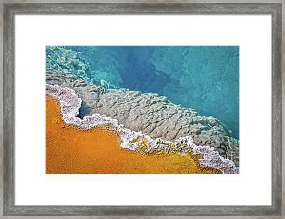 Yellowstone Pool Framed Print