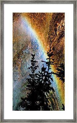 Framed Print featuring the photograph Yellowstone Rainbow by Norman Hall