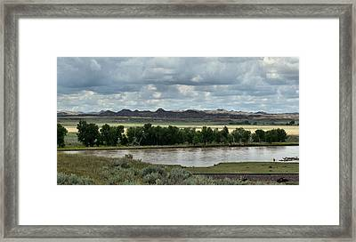 Yellowstone River After The Storm Framed Print