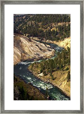 Yellowstone River Canyon Framed Print by Marty Koch
