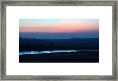Yellowstone River Evening Framed Print