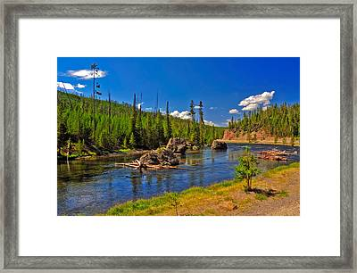 Yellowstone River Framed Print