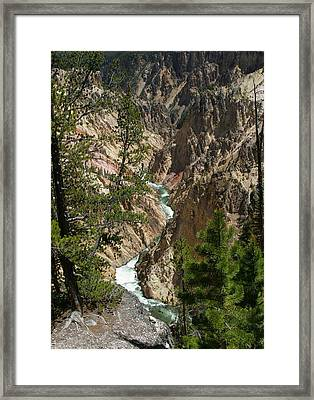 Yellowstone River Framed Print by Linda Phelps