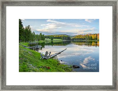 Yellowstone River Off Grand Loop Framed Print
