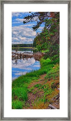 Yellowstone River Reflections Triptych Right Panel Framed Print