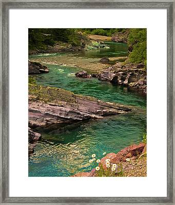 Yellowstone River Scene Framed Print